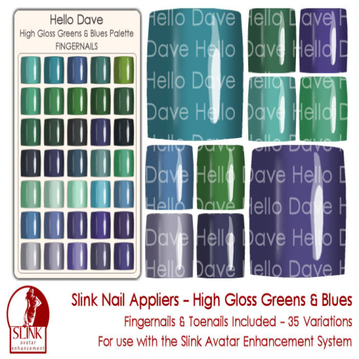 High Gloss Greens & Blues ad